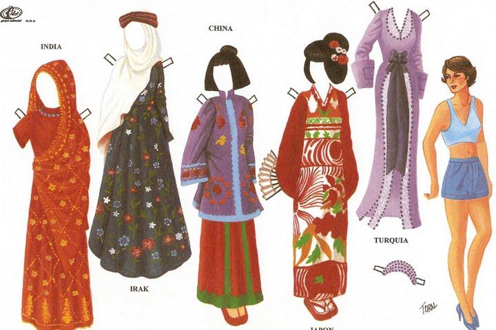 Бумажные куклы разных национальностей