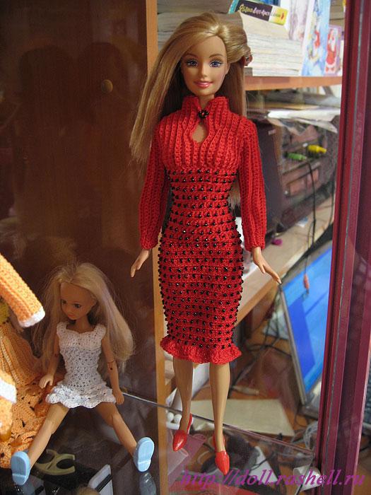 Описание: Выкройки для Барби.  Платье, сапожки и.