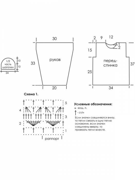 Вязание кофты для девочки со схемами